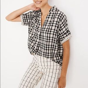 Courier Button-Back Shirt in Double-Faced Plaid